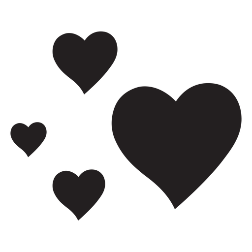 Four Hearts Silhouette Ad Affiliate Sponsored Silhouette Hearts Black And White Quotes Inspirational Print Making Clip Art