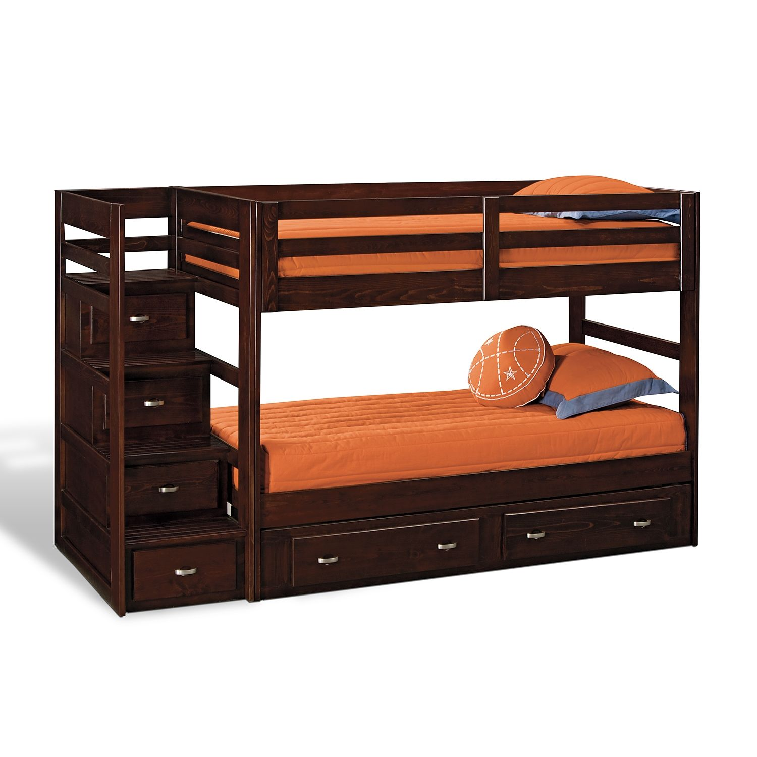 Loft bed with desk jordan's furniture  Twin Bunk Bed with Stairs and Storage Designer  Beds  Pinterest