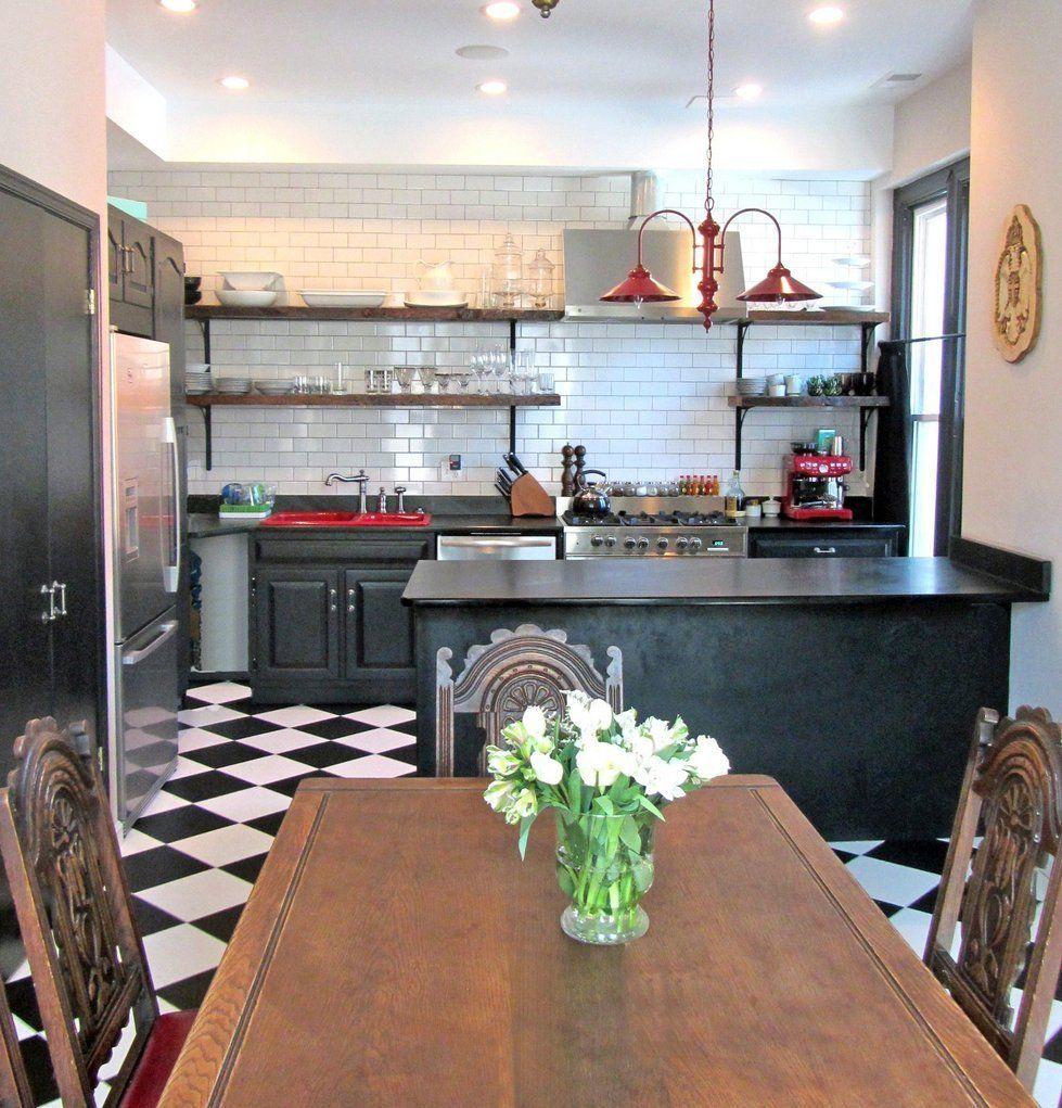 Kitchen Flooring Apartment Therapy: Nyakinyua & Ivan's Chic Victorian In Washington DC