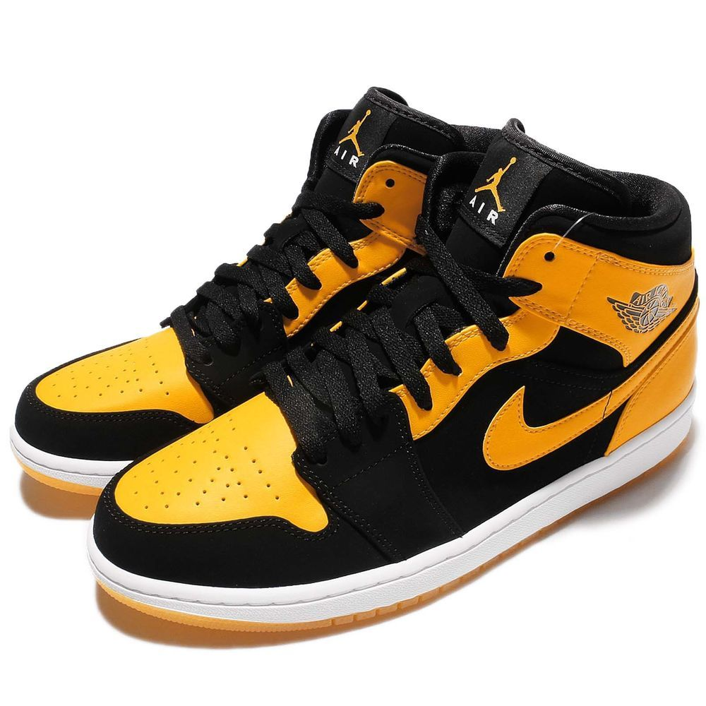 online store ba632 39dc2 Nike Air Jordan 1 Mid New Love Black Varsity Maize AJ1 Shoes Sneakers 554724-035  S N  554724035 Color  BLACK VARSITY MAIZE-WHITE Made In  China Condition   ...