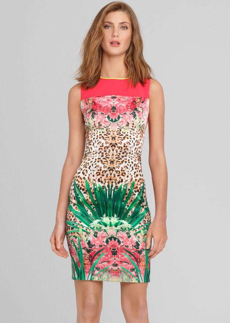 1b9765ad37 Sour Watermelon Sour Tropical Leopard Print Dress  78.49 Vestidos De Baño