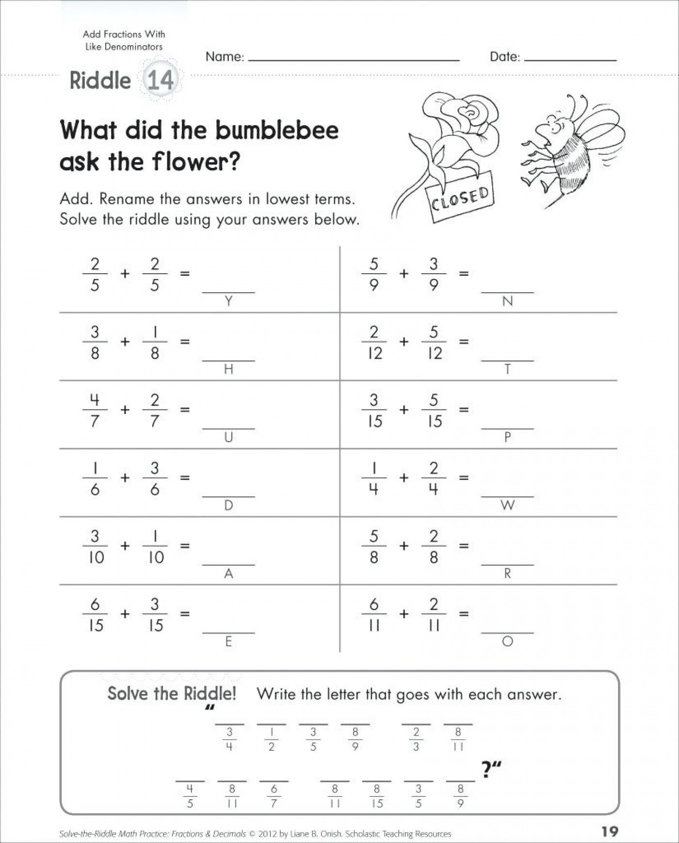 5 Free Math Worksheets Second Grade 2 Addition Add 2 Digit Plus 1 Digit Missing Addend No Reg In 2020 Fractions Worksheets Math Fractions Worksheets Math Fractions