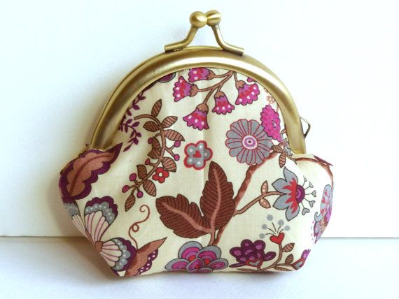 Decorative Printed Coin Purse  ipod Earbud Case ❤ by cheekyleopard