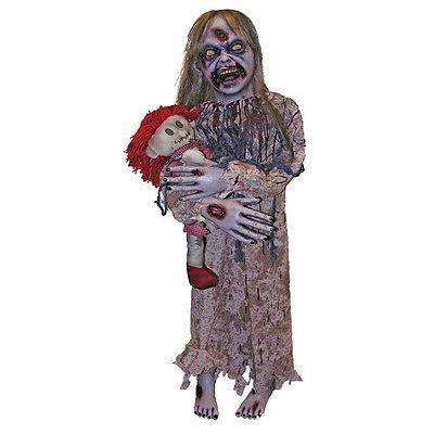 Handhelds and Props 163148 Little Girl Zombie Creepy Halloween Prop - scary halloween props