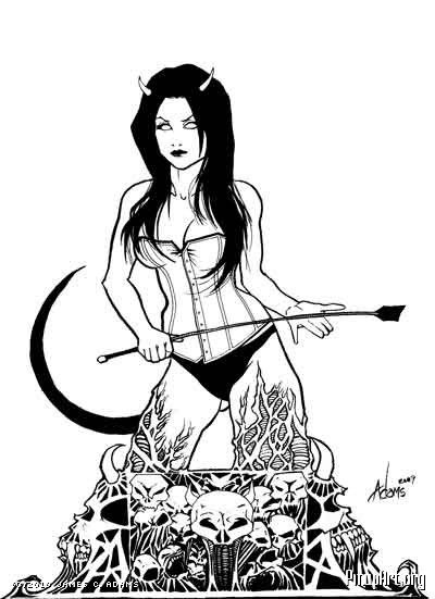 hell babe black white pinup pinterest awesome art cartoon Satin Petticoats hell babe
