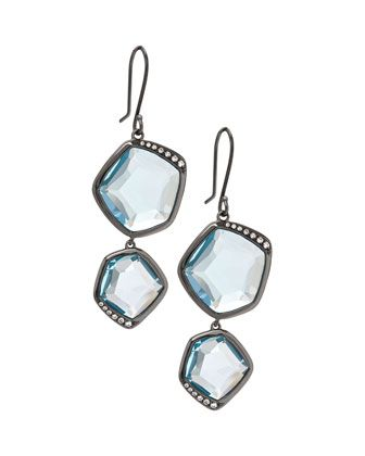 Wicked 2-Tier Blue Topaz Earrings by Ippolita at Neiman Marcus Last Call.