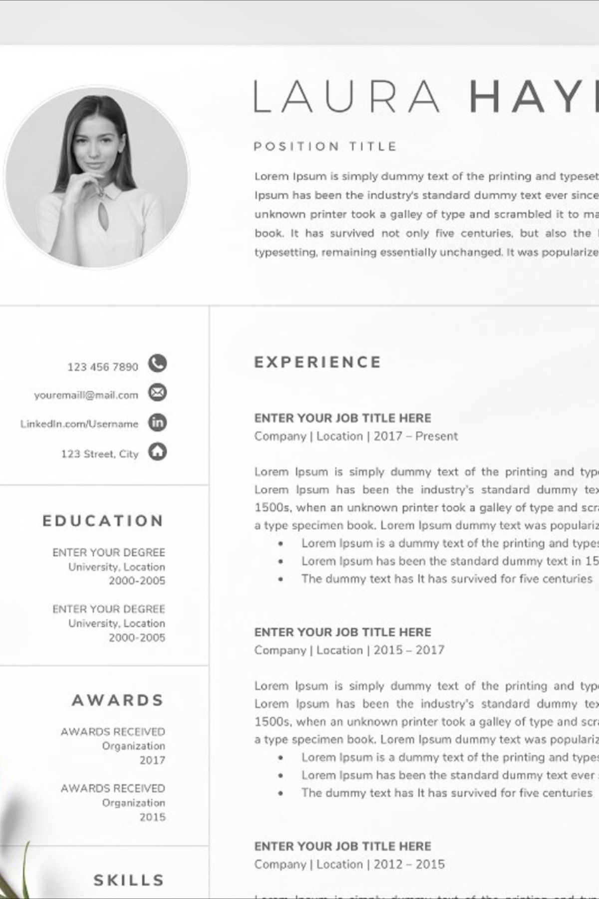 Pin on Resume Templates Business Resume, Writing Resume