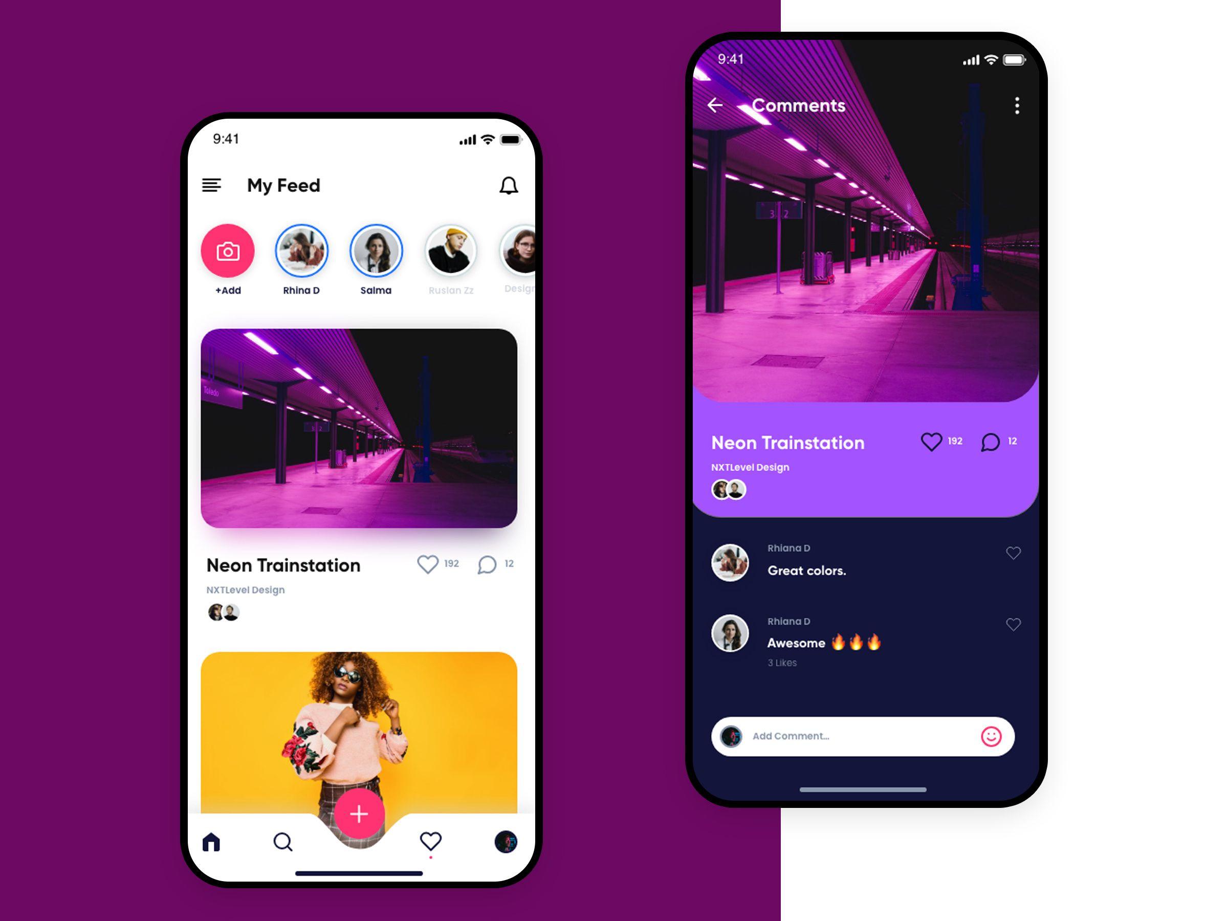 Social Media App Concept Social App Design App Interface Design Medium App