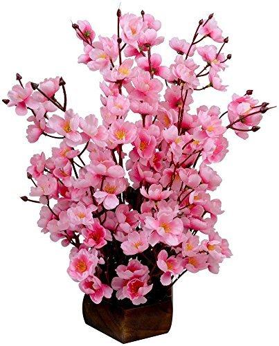 Buy Sofix Bonsai Blossom Artificial Flowers With Pot Home Decorative Flower Pot Red White Online At Low Decorated Flower Pots Artificial Flowers Flower Pots