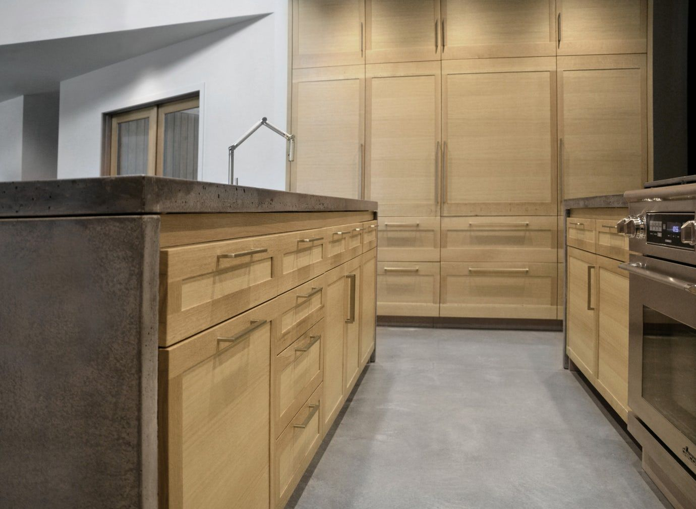 Alaska Vacation House White Oak Cabinets Concrete Counters Kitchen Contemporary Modern By Kitchen Remodel Small Kitchen Remodel Farmhouse Kitchen Remodel