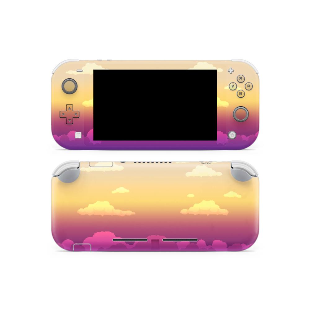 Fade 8 Bit Clouds Switch Lite Skin Nintendo Switch Case