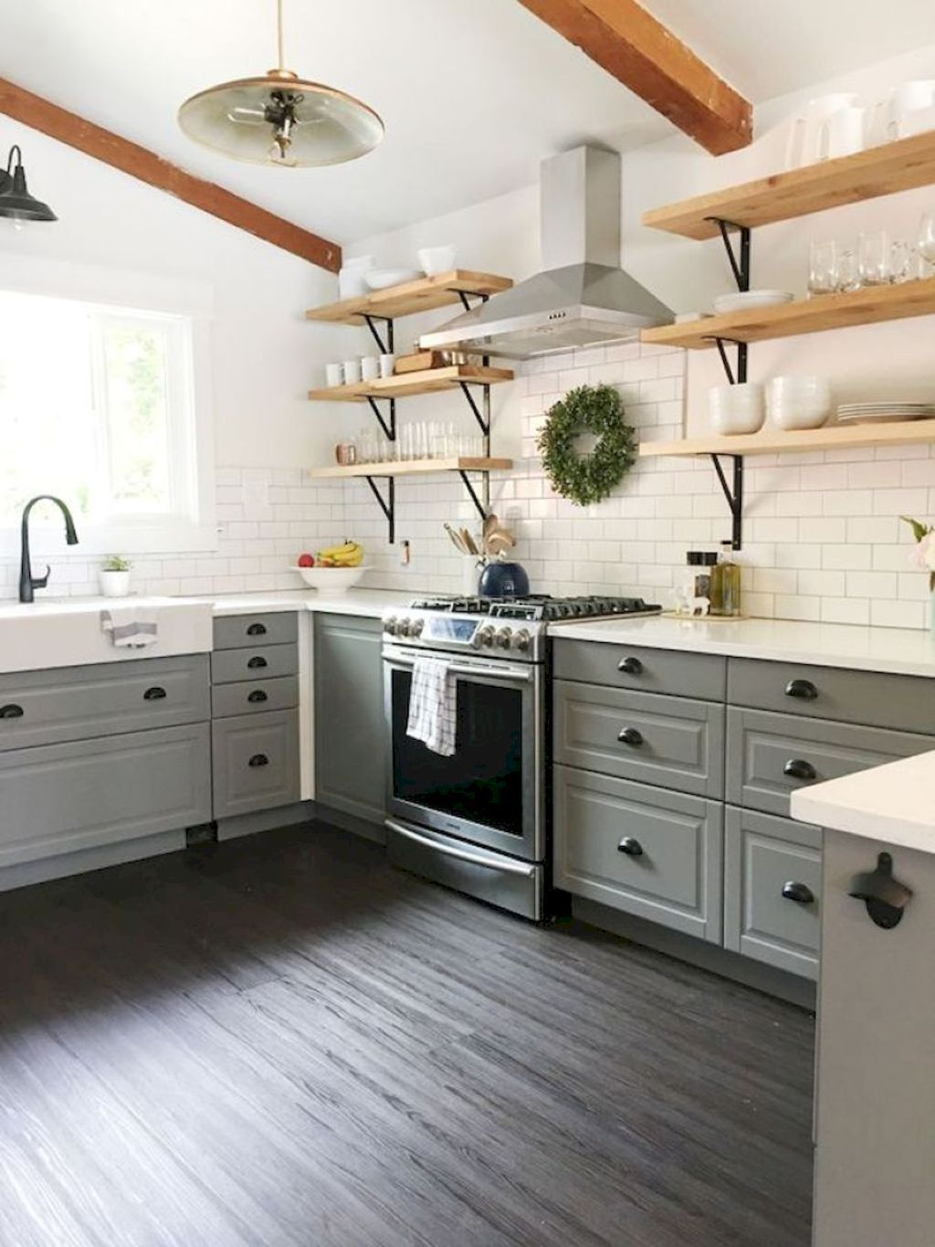 Awesome rustic farmhouse kitchen decor ideas homeylife