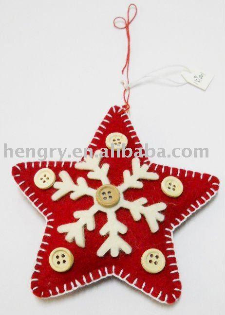 159001 Hot Sale Handmade Felt Christmas Ornaments Star - Buy - christmas decorations sale