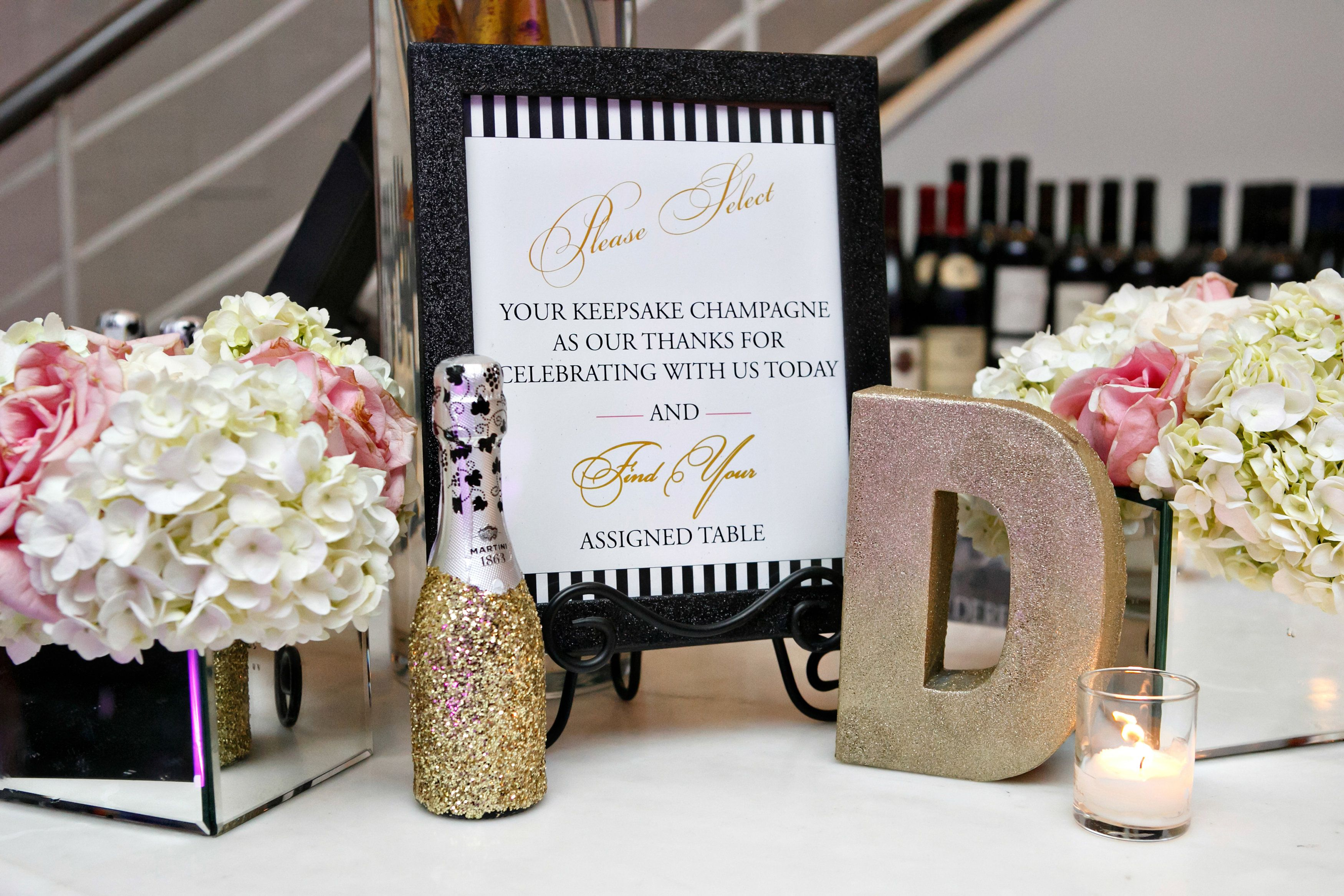 Champagne & Peonies, a Black, Pink & Gold New York City Wedding ...