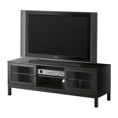 Linnarp tv unit ikea solid wood a durable natural for Wooden tv stands ikea