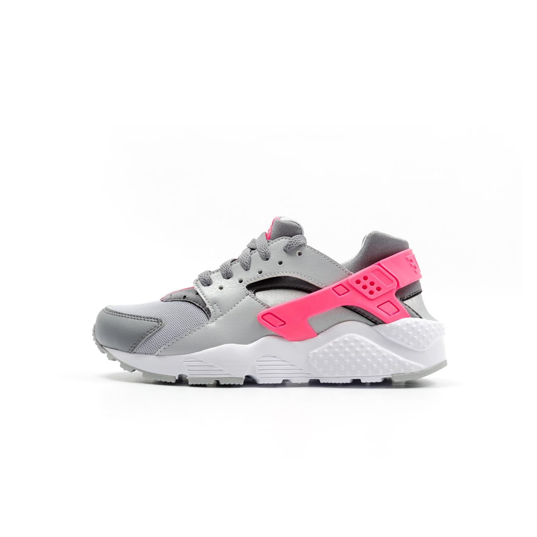 sports shoes ff485 dbf86 NIKE AIR BIG KIDS HUARACHE - WOLF GREY   HYPER PINK Huaraches Shoes, Nike  Huarache