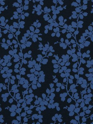 Peacock Blue Upholstery Fabric   Abstract Floral   Kitchen Chair Material    Blue Floral Headboard Fabric   Navy Blue Home Decor