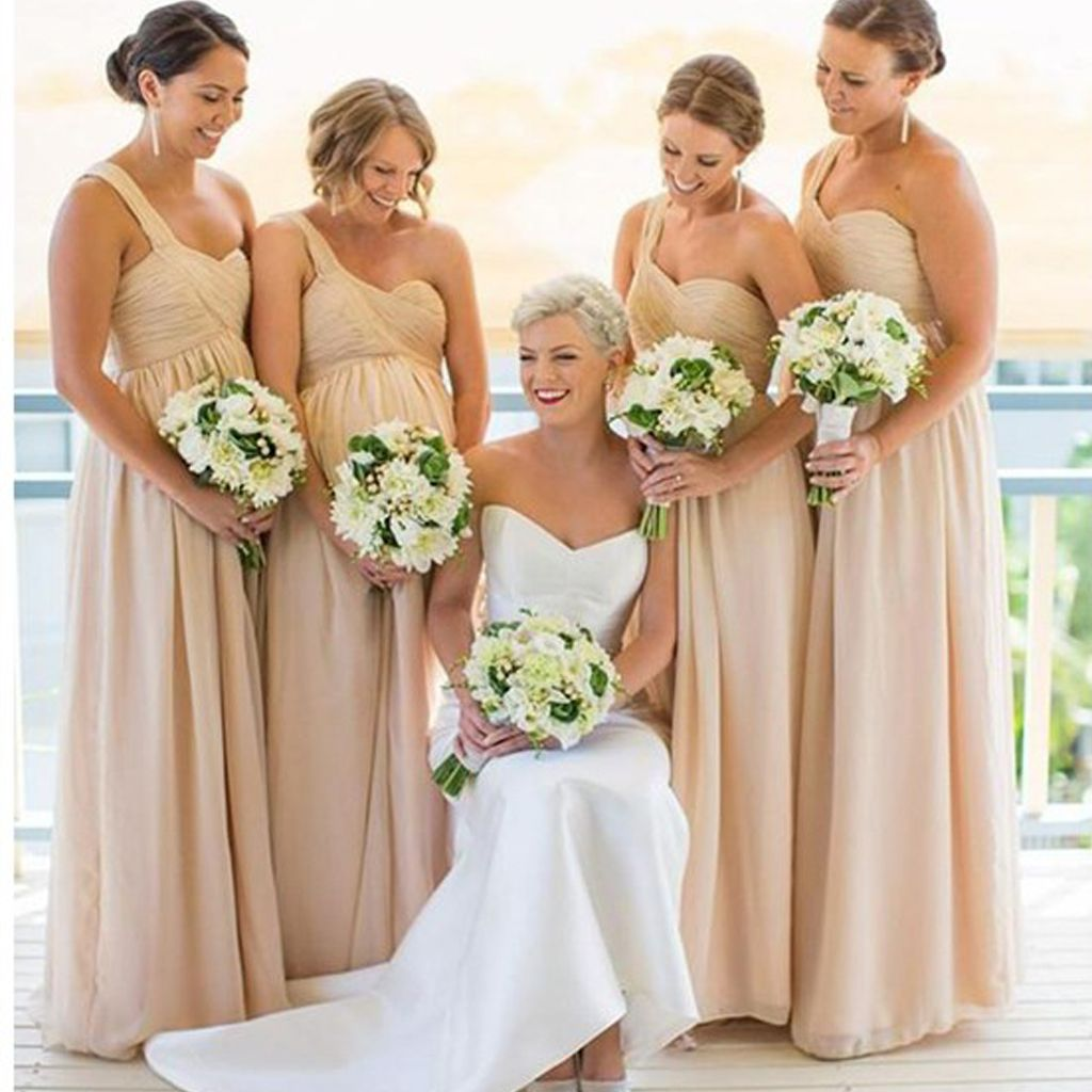 Inexpensive chiffon one shoulder bridesmaid dress empire waist inexpensive chiffon one shoulder bridesmaid dress empire waist bridesmaid dress for pregnant women sweet heart ombrellifo Images