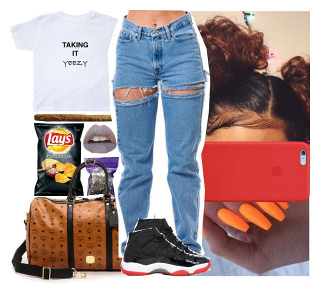 """Taking it ""Yeezy"""" by msixo ❤ liked on Polyvore featuring INC International Concepts, MCM and Apple"