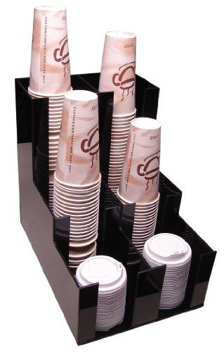 Cup Lid Holder Dispenser Coffee Cup Beverage Caddy Countertop