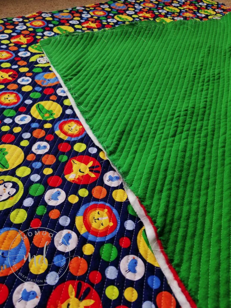 How to sew a faux chenille baby blanket a step by step