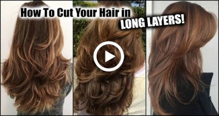 HOW I CUT MY HAIR AT HOME IN LONG LAYERS!  Long Layered Haircut DIY at Home! Updated! #diyhaircut