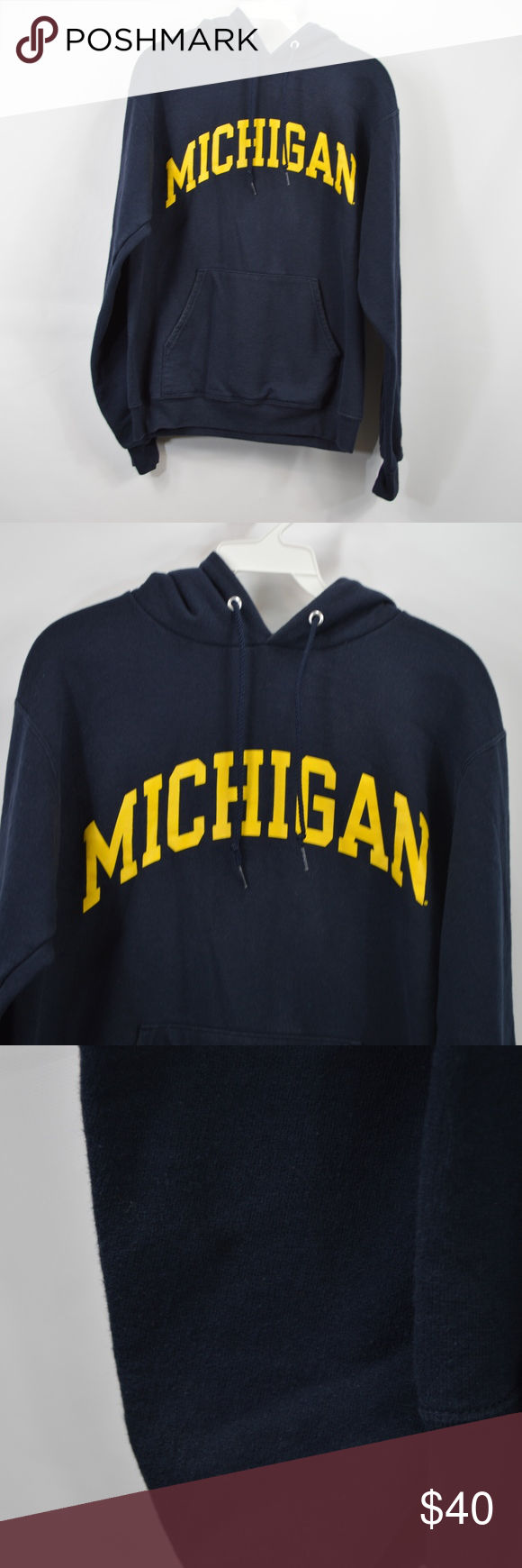 Champion Mens Small Michigan Wolverines Hoodie Vintage Champion Michigan Wolverines Hooded Sweatshirt Hood Champion Shirts Sweatshirt Shirt Sweatshirts Hoodie [ 1740 x 580 Pixel ]