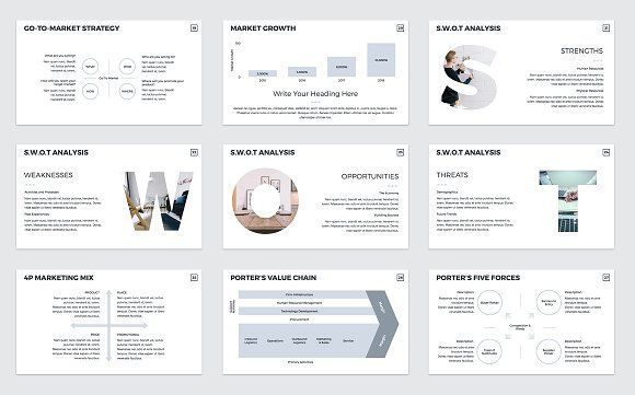 Business Plan PowerPoint Template - Presentations #swot #analysis