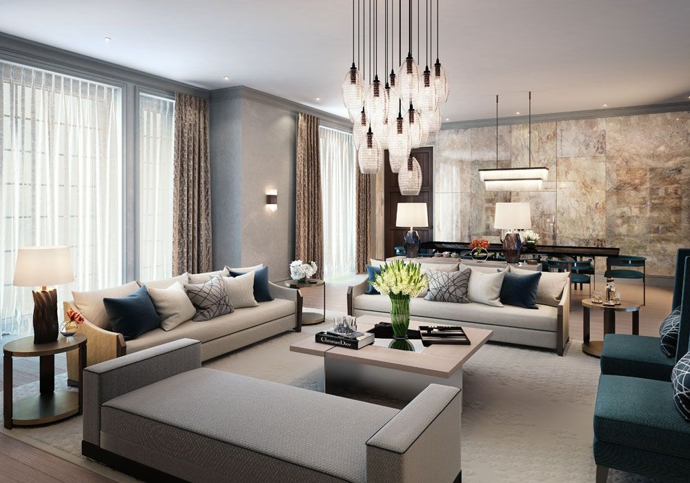 Linley interior design has produced options for the interiors of  series penthouses and apartments at knightsbridge private park also david ideas pinterest living rooms room rh