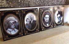 Halloween Set Of 4 Creepy Photo Frames Decoration Prop New 7