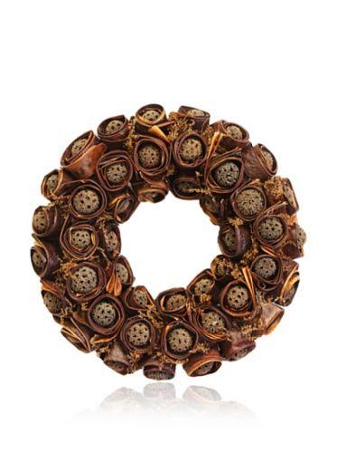 63% OFF Gold Leaf Design Sweet Gum Ball Wreath #home #Home