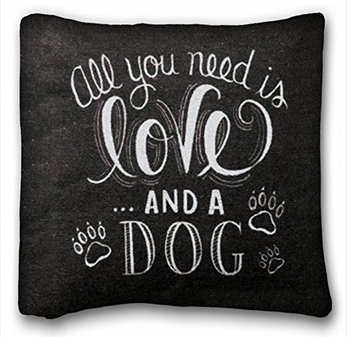 Tarolo All You Need Is Love And A Dog Modern Blck Background Quote
