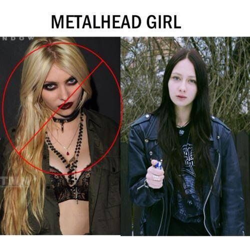 Metalhead aus einem emo mädchen