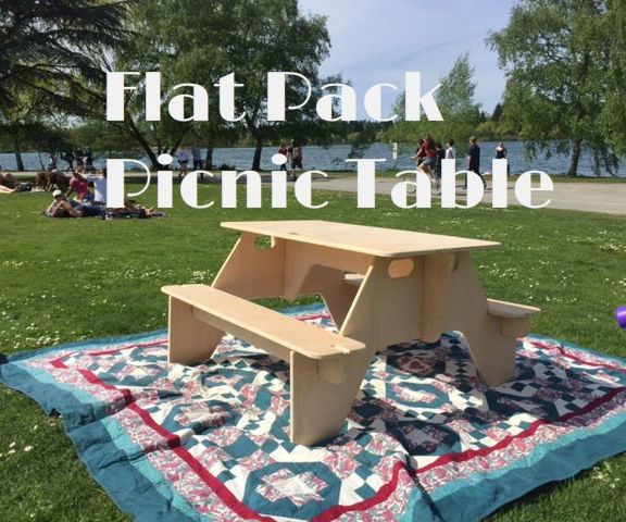 Flat Pack Picnic Table From 1 Sheet Of Plywood Picnic Table Wood Shop Projects Plywood Sheets