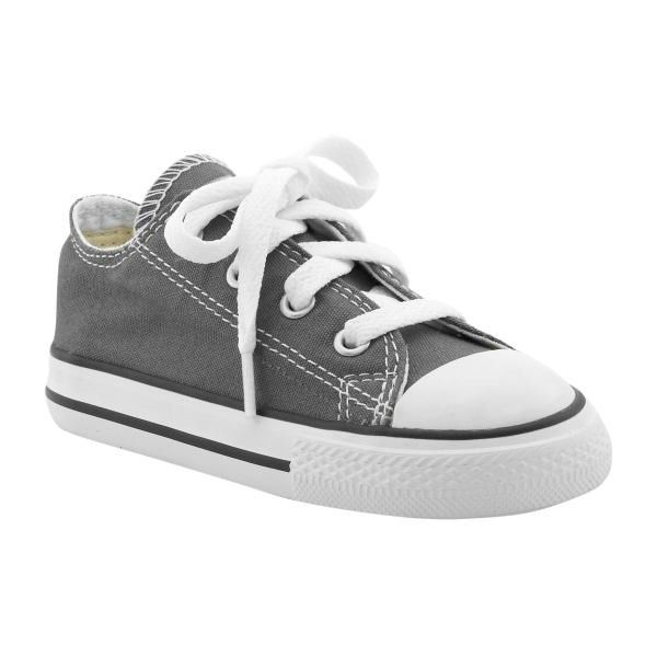 Gap Babys Charcoal Converse All Star Lo Tops (€12) ❤ liked on Polyvore featuring baby, kids, shoes, baby clothes, baby shoes and toddler boys shoes