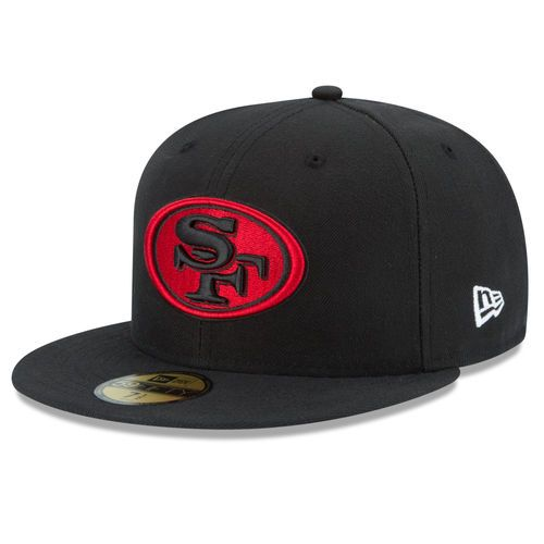 10fc34c3b26 New Era San Francisco 49ers Black Official Alternate On Field 59FIFTY Fitted  Hat