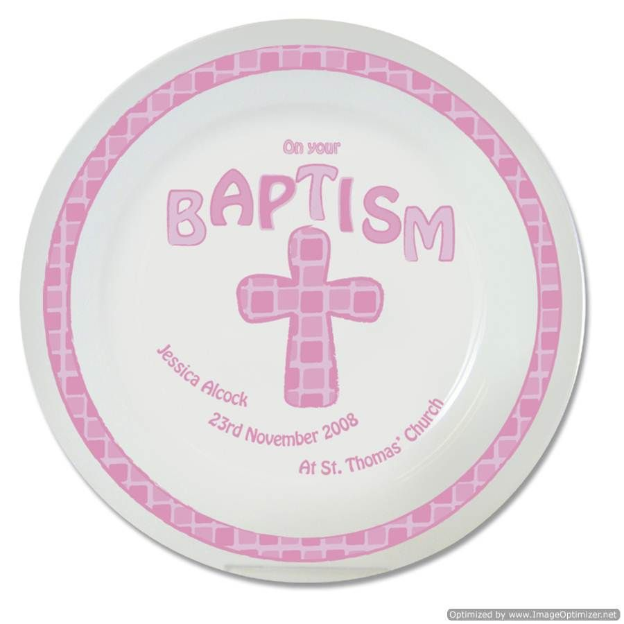 Personal Touch Gifts - Pink Cross Baptism Plate, £14.99 (http ...