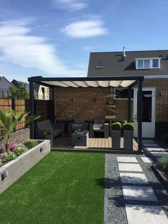 49 Fabulous Backyard Design Ideas On A Budget In 2020 Small Backyard Landscaping Contemporary Garden Design Backyard Design