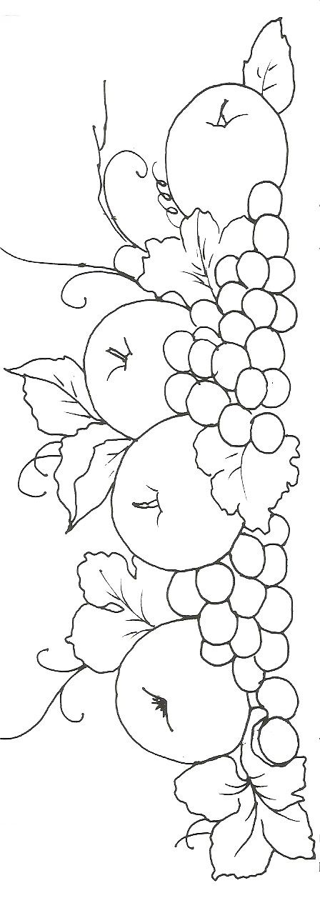 Manzanas y uvas | bordado | Pinterest | Pintura en tela, Pinturas y ...