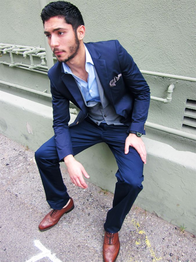Blue suit, blue vest and blue shirt | Style - Suits | Pinterest ...