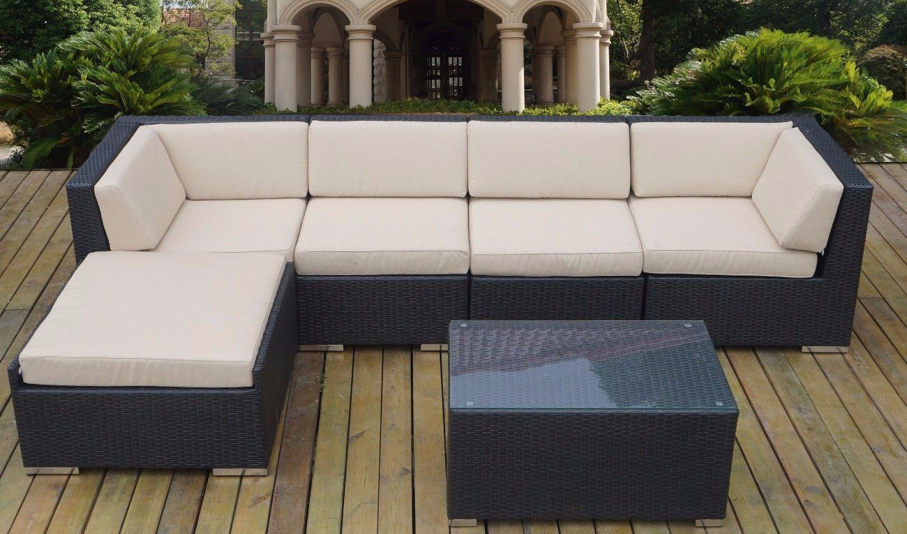 Puhi Modern Outdoor Sectional With Coffee Table Outdoor