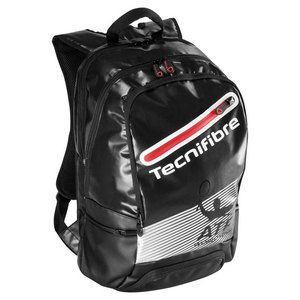 """The Tecnifibre Endurance Pro ATP Tennis Backpack is designed for players who want to be able to store all of their  tennis gear in style. This bag has a main compartment  that can store up to two racquets. The front accessory pocket keeps your valuables safe. The pockets are waterproof, which keeps everything you have dry. The padded straps are adjustable, making this bag convenient to carry.Dimensions: H19.5"""" x W12.5"""" x D8""""Color: Black, RedCheck out our Buyer's Guide for tips on…"""
