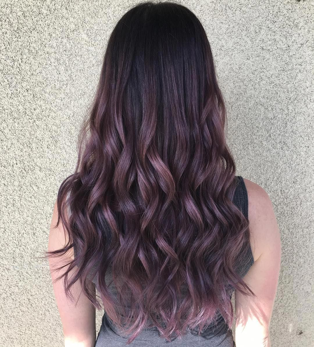 Purple Mauve Violet Dark Ombre Hair Babylights Glamdoll1