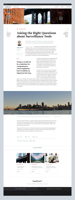 Equalfuture Article Jpg By Chris Allen News Web Design Blog Article Design Web Layout Design