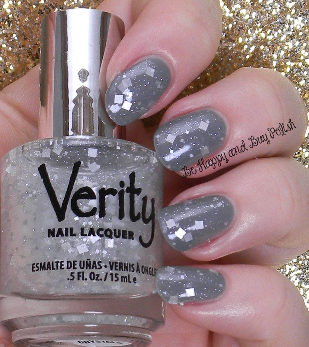Verity Square Crystals Over Lite Grey Be Hy And Polish Http