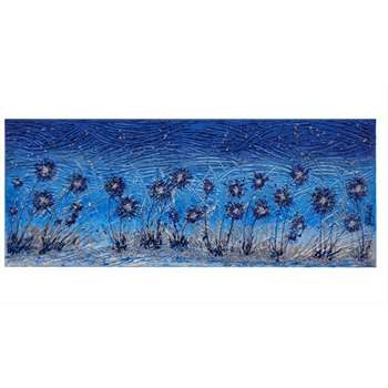 Quadri floreali rilievo fiori moderni in blu materico for Quadri con fiori in rilievo