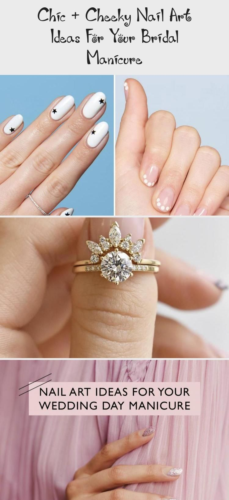 Chic + Cheeky Nail Art Ideas For Your Bridal Manicure - Pinokyo