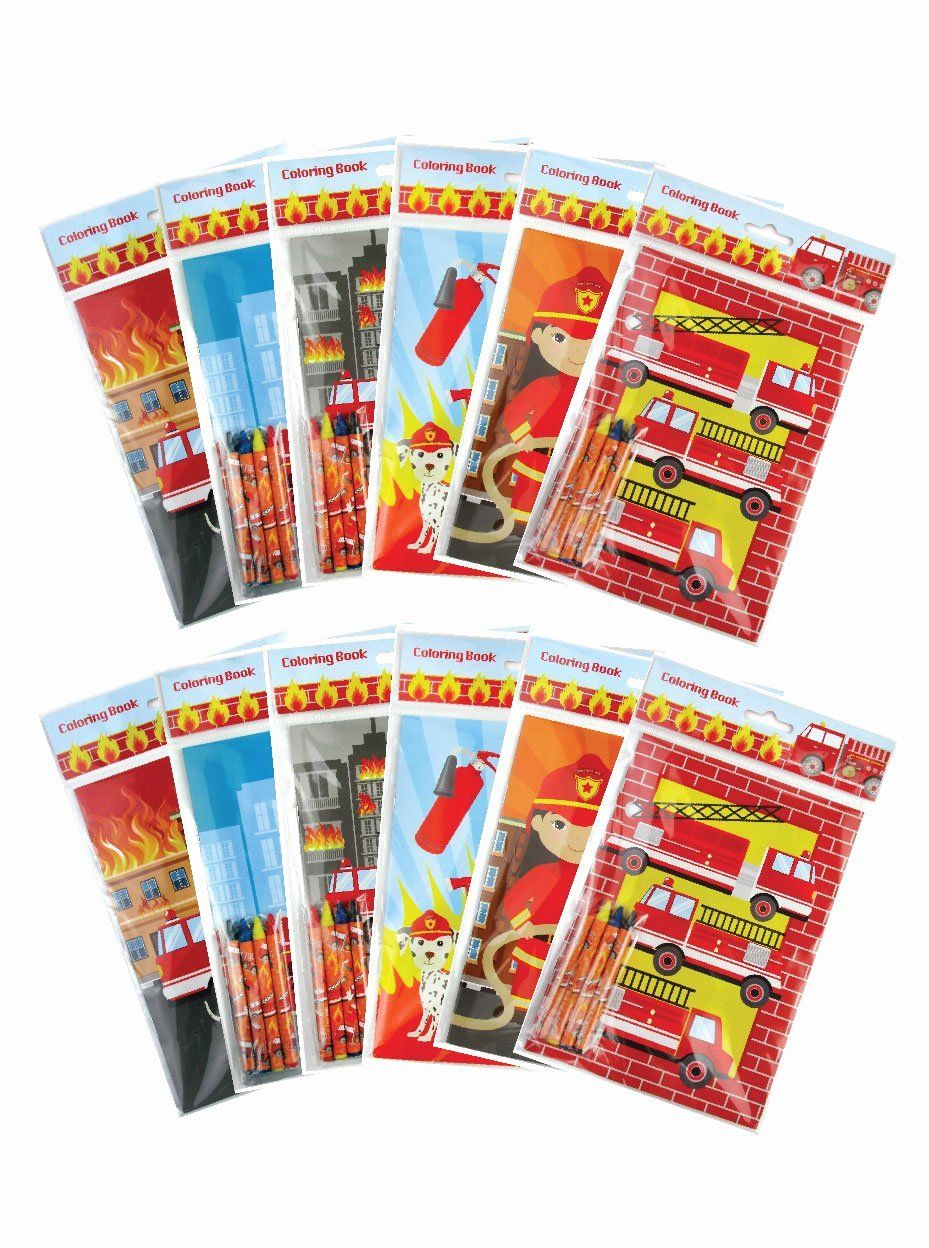 Coloring Book Party Favors Inspirational Fire Trucks Coloring Books With Crayons Party Favors Set Of 12 T Coloring Books Coloring Book Set Easter Coloring Book