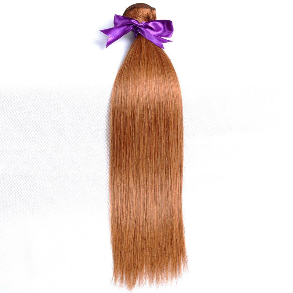 Pinshair Blonde Color 30 Brazilian Hair Weave Bundles Straight Human