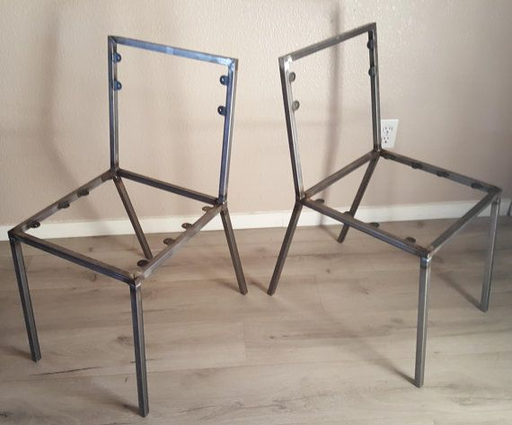 Steel Dining Chair Frame Set Of 2 Chair Frames Diy Create Your Own